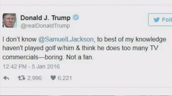 Donald Trump blasts Samuel L. Jackson on Twitter