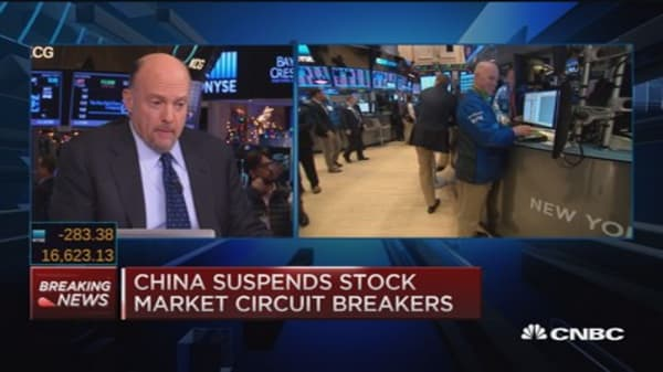 China suspends circuit breakers