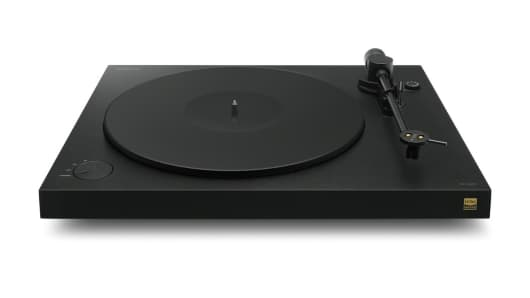 Front View of Sony's New High-Resolution Turntable - PS-HX500.