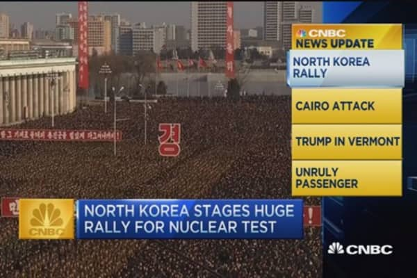CNBC update: North Korea stages rally