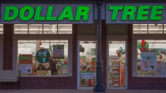 The Dollar Tree store in Chantilly, Virginia.