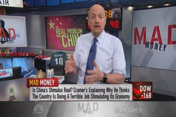 Cramer: Real China worries not with its stock market