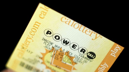 A Powerball lottery ticket is shown in this illustration photograph in Encinitas, California.