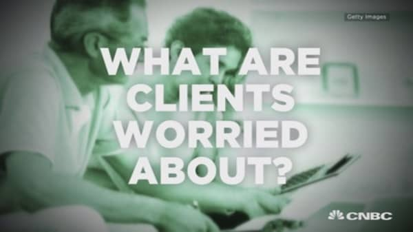 What are clients worried about?