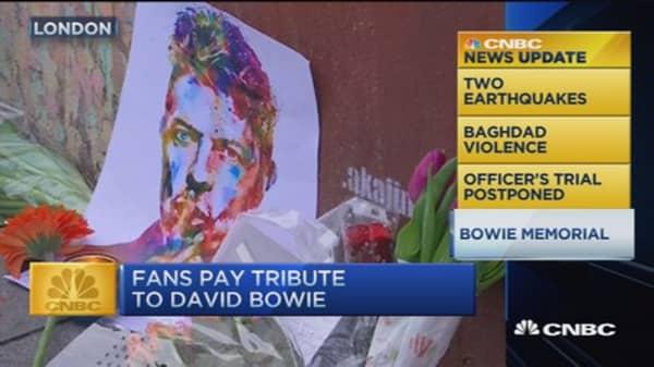 CNBC update: Bowie memorial