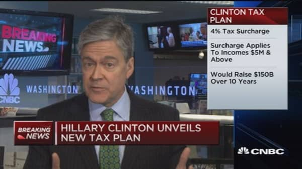 Hillary Clinton unveils new tax plan