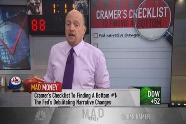 Cramer's checklist to finding a bottom