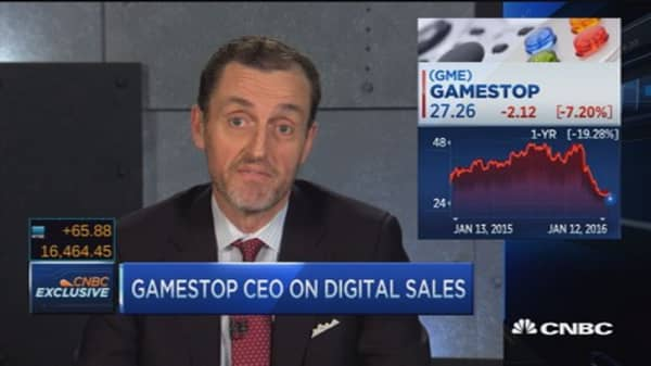 GameStop digital sales in stores: CEO