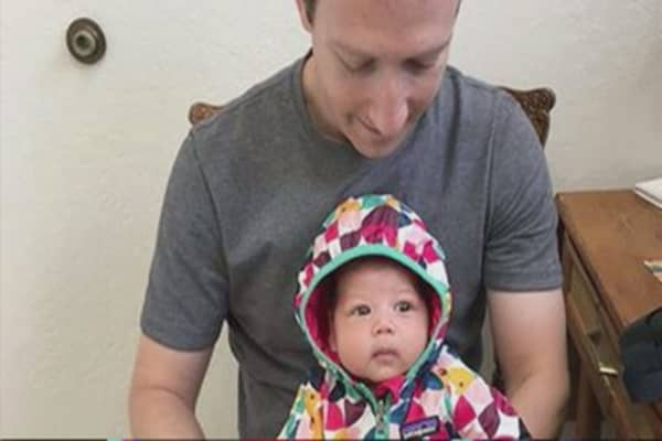 Zuckerberg jumps into vaccine debate with baby photo