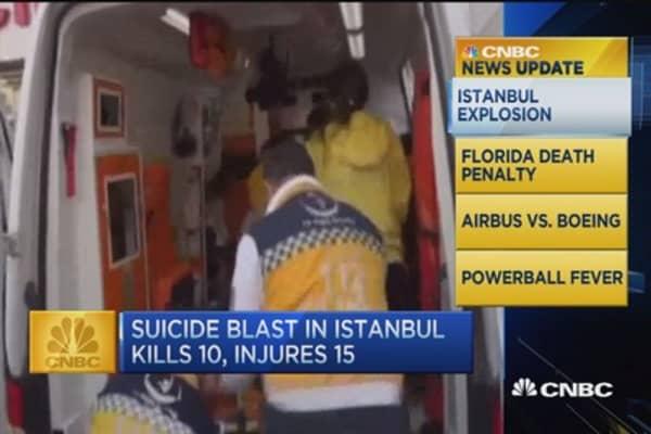 CNBC update: 10 killed in Istanbul blast