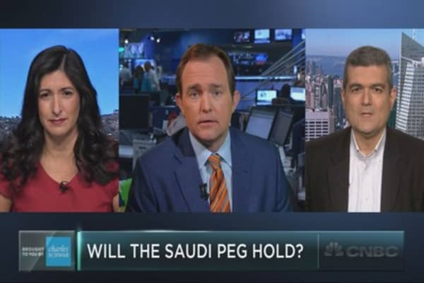 Can the Saudi currency peg hold?