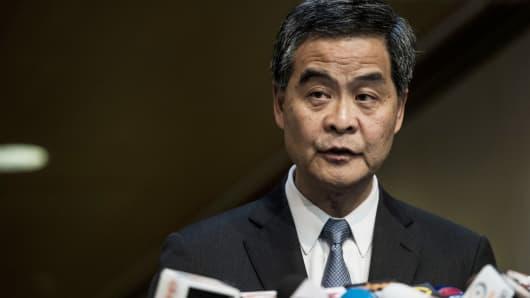 Leung Chun-ying, Hong Kong's chief executive