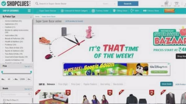 Indian start-up ShopClues boasts $1.1B valuation