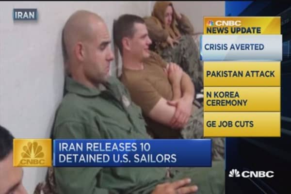 CNBC update: Iran releases detained US sailors