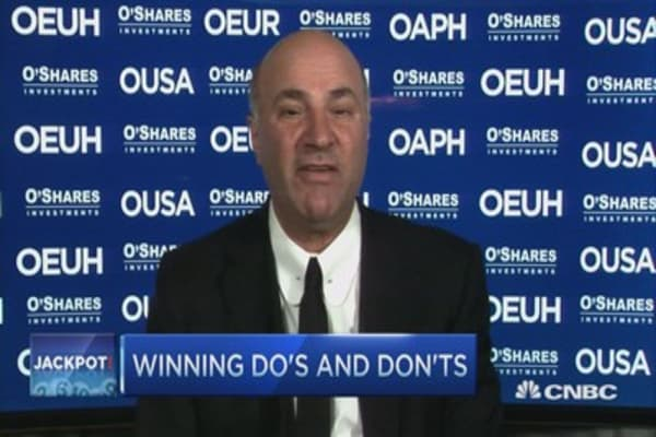 O'Leary's Powerball winner advice