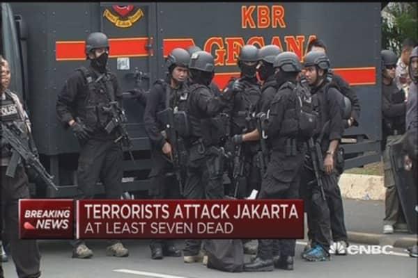 Terrorists attack Jakarta