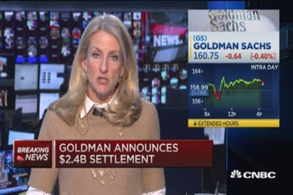 Goldman Sachs hit with $2.3B fine to settle case