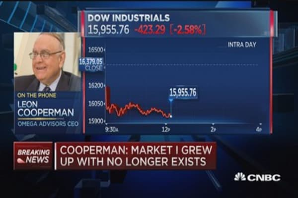 Cooperman: This is a growth scare, not a bear market