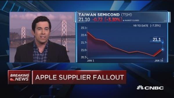 Apple supplier fallout
