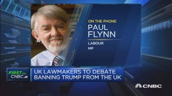 UK government to debate banning Trump