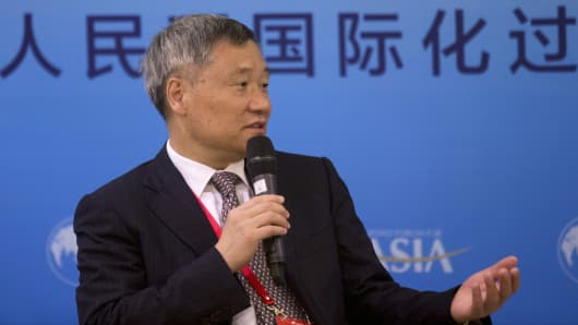 Xiao Gang, chairman of the China Securities Regulatory Commission