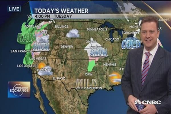 Cool air charges through Northeast