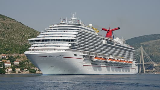 The Carnival Breeze in Dubrovnik, Croatia.