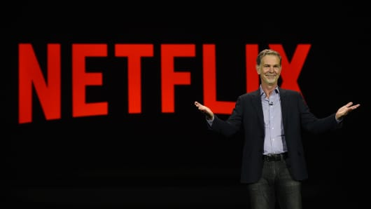 Netflix CEO Reed Hastings delivers a keynote address at CES 2016 at The Venetian Las Vegas on January 6, 2016 in Las Vegas, Nevada.