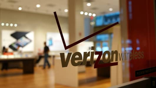 A Verizon store in New York City.