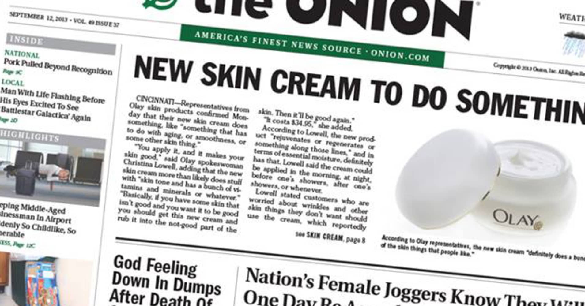 The onion cryptocurrency headline