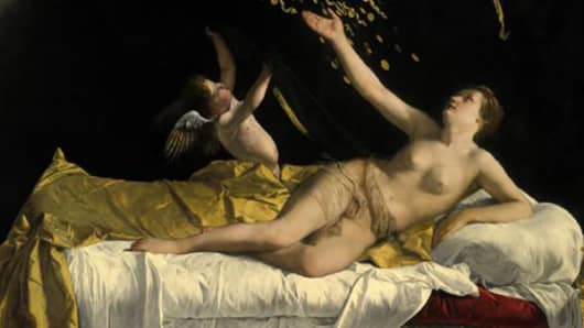 "Orazio Gentileschi ""Danaë,"" Oil on canvas, 1621. Estimate: $25-$35 million"