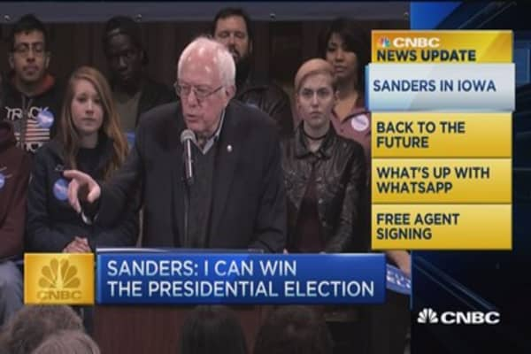 CNBC update: Sanders in Iowa