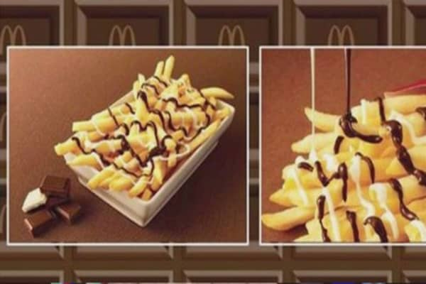 McDonald's newest menu item...chocolate-covered fries