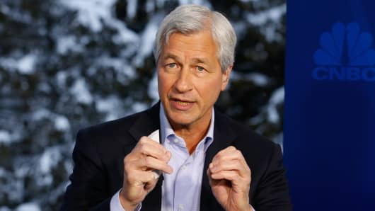 Jamie Dimon at the 2016 World Economic Forum in Davos, Switzerland.