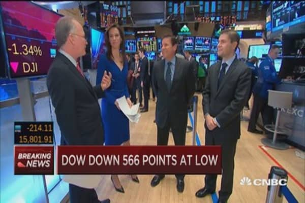 Wild day for stocks