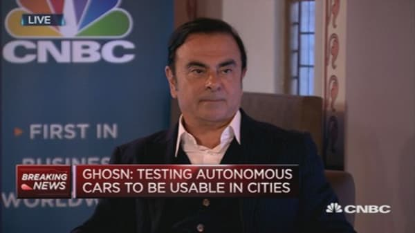 Autonomous cars still in prototype stage: Ghosn