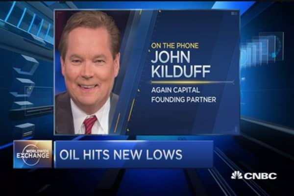 Oil prices skid to new lows