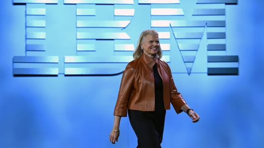 IBM Chairman, President and CEO Ginni Rometty arrives for her keynote address at CES 2016 January 6, 2016 in Las Vegas.