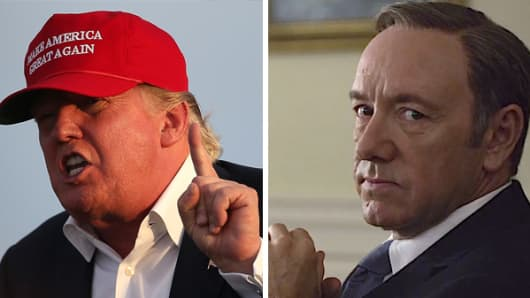 "Donald Trump and Frank Underwood from Netflix's ""House of Cards."""