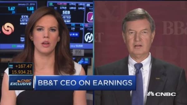 BB&T CEO: Opportunities in new markets outweigh low rate issues