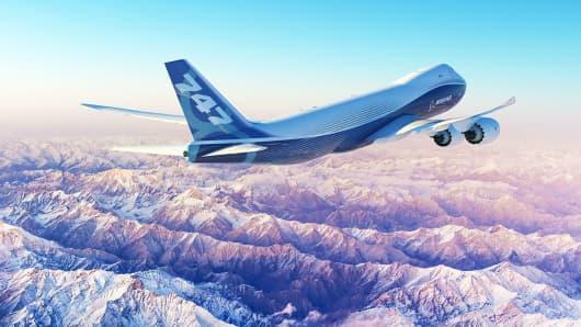 747-8 Boeing Freighter Plane