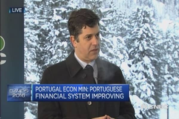 Portugal's financial system is improving: Econ. min