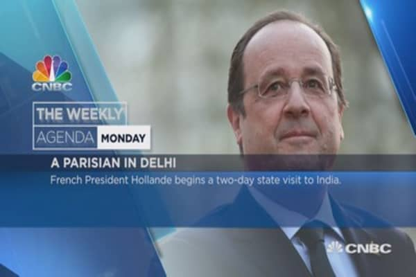 Weekly Agenda: Hollande, FED, Italy