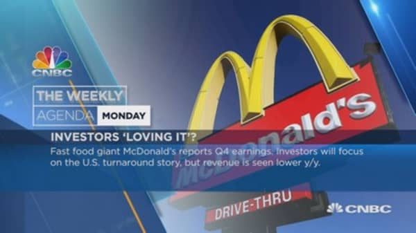 Weekly earnings agenda: MacDonald's, Apple, Facebook