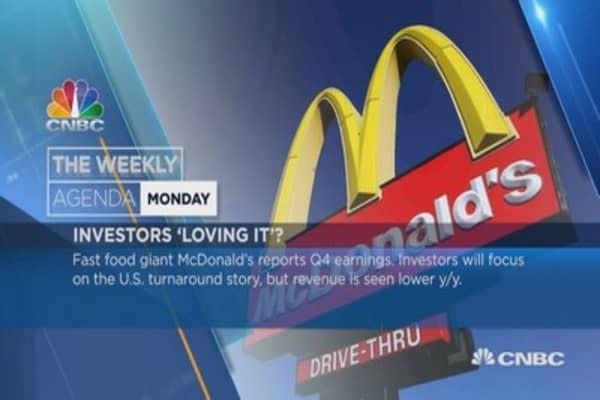 Weekly earnings agenda: MacDonald's, Apple, Facebook