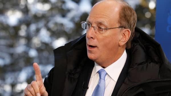 Larry Fink at the 2016 World Economic Forum in Davos, Switzerland.