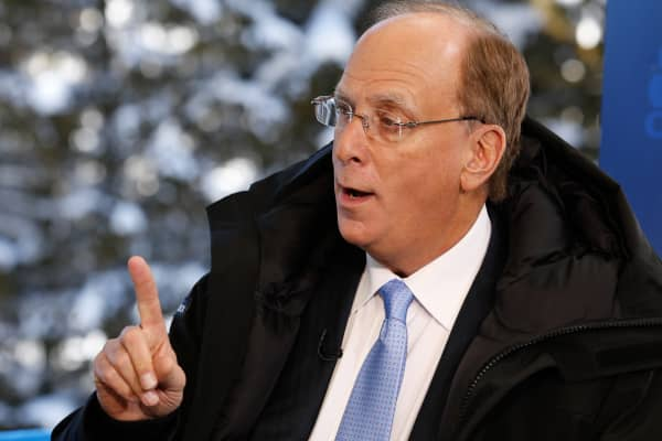 Larry Fink at the 2016 World Economic Forum in Davos, Switzerland.