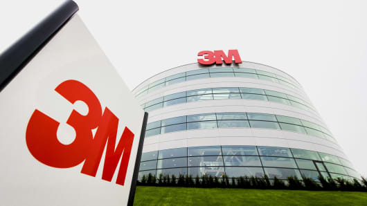 Exterior of the Dutch head office of international technology company 3M in Delft, Netherlands.