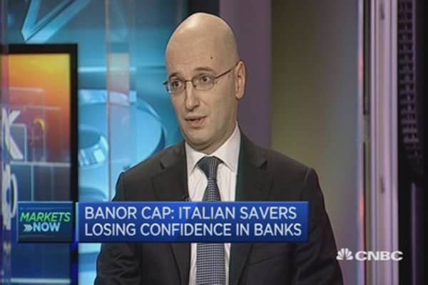 Bank stock values are too low: Castelli