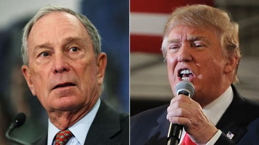 Image result for Michael Bloomberg Donald Trump